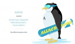 AAMA means American Apparel