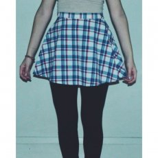 American Apparel Plaid Circle