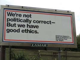 An American Apparel billboard