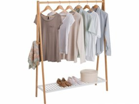 Bamboo Clothes Rail
