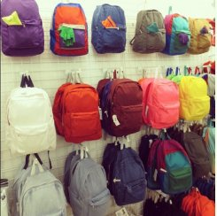 Backpacks in our Seoul store!