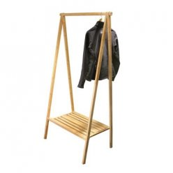 Bamboo garment rack
