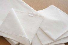 Plain White Cotton Napkins