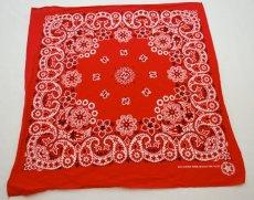 Red cotton bandanas made