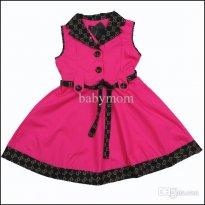 Wholesale-Girl dress cotton