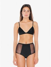 Mesh Side High-Waist Bikini