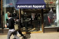 An American Apparel store in nyc. The organization filed for bankruptcy protection Monday. Picture: Spencer Platt, Getty photos