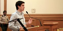 Ryan Holiday, United states Apparel spokesman, spoke about the company's anti-sweatshop guidelines within planning fee hearing on Feb. 5.