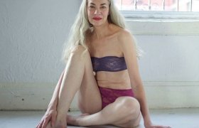 American Apparel 60 years old model