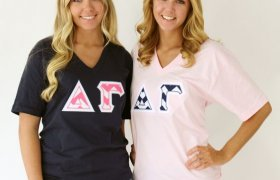 American Apparel Greek letters shirts
