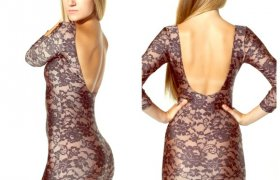 American Apparel Lace Dress