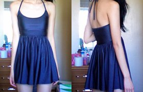 American Apparel Nylon Skater Dress