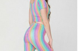 American Apparel striped Leggings
