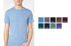 American Apparel Tri-Blend Short Sleeve Track Shirt