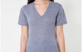 American Apparel Tri Blend v Neck