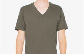 American Apparel v Neck shirts