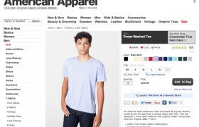 American Apparel Website