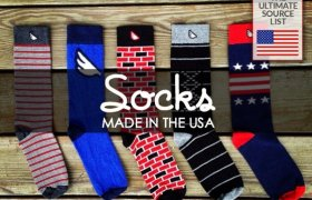 Cotton socks made in USA