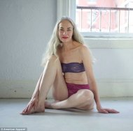 Timeless beauty: Jacky O¿Shaughnessy, a 62-year-old actress and model, appears in promotional images for US Apparel's lingerie line
