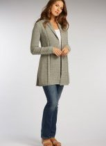 Womens undyed gray alpaca Long Shawl Cardigan by Indigenous